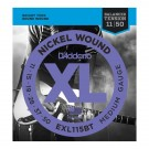 D'Addario EXL115BT Nickel Wound, Balanced Tension Medium, 11-50