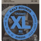 Daddario EHR350 Half Rounds Jazz Light 12-52