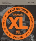 D'Addario EHR350 Half Rounds Jazz Light 12-52