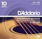 D'Addario EJ26 Custom Light 11-52 (10 PACK)