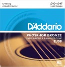 D'Addario EJ38 12-String Phosphor Bronze Light Acoustic