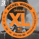 D'Addario EXL110 Regular Triple Packs