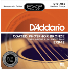 D'Addario EXP42 Coated Phosphor Bronze, Resophonic, 16-56
