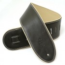 "DSL Leather Guitar Strap 2.5"", Black and Beige GEP25-15-3"