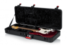 TSA Series ATA Molded Polyethylene Guitar Case for Standard Electric Guitars  Designed to fit Standard Electric Guitars Including Fender Strat/Tele Style ATA Molded Military Grade Polyethylene Outer-Shell TSA Approved Locking Center Latch Ideal for Air Tr
