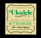 Daddario J65 Soprano Ukulele Clear Nylon