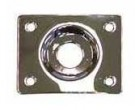 Guitar Tech Jack Socket Plate Square (Chrome) GT550