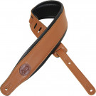 Levys MSS2-TAN Padded Leather Guitar Strap (Tan)