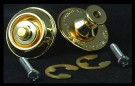 Peavey Guitar Strap Locks, Gold