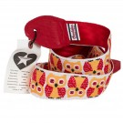 Guitar Strap Owls Red and Yellow