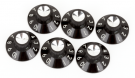 Fender Pure Vintage Black/Silver Skirted Amplifier Knobs
