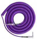 Lava Retro Coil Cable 20ft, Angled to Straight (Purple) LCRCRMP