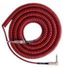Lava Retro Coil Cable 20ft, Angled to Straight (Metalic Red) LCRCRMR