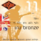 Rotosound Tru Bronze TB11 Brass Alloy Acoustic Guitar Strings, 11-52