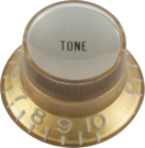 Top Hat Tone, Gold with Silver Cap, Gibson Style