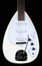 Revelation VTX-64 Teardrop in White with Maple Neck and 3 Pickups  Updated with White Scratch Plate