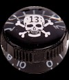 Control Knob Skull & Xbones (Black) GT651