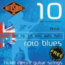 RH10 Blues Nickel Electric Strings, Light Top, Heavy Bottom 10-52