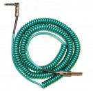 Retro Coil Cable 20ft, Angled to Straight (Metalic Green) LCRCRMG