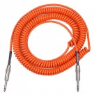 Retro Coil Cable 20ft Straight Plugs (Orange) LCRCO