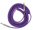 Retro Coil Cable 20ft, Straight Plugs (Purple) LCRCMP