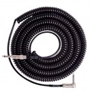 Retro Coil Cable 20ft, Angled/Straight (Black) LCRCRBLK