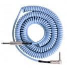 Retro Coil Cable 20ft, Straight Plugs (Carolina Blue) LCRCCB