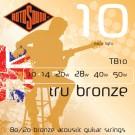 Tru Bronze TB10 Brass Alloy Acoustic Guitar Strings, 10-50