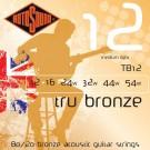 Tru Bronze TB12 Brass Alloy Acoustic Guitar Strings, 12-54